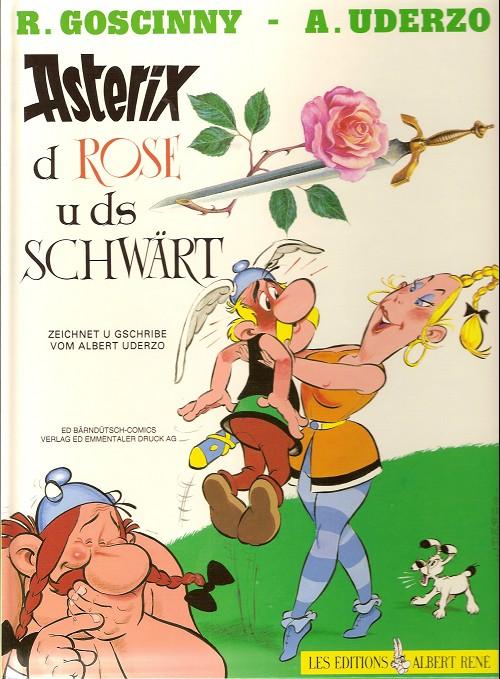 Couverture de Astérix (en langues étrangères) -29Bernoi- Asterix d rose u ds schwart
