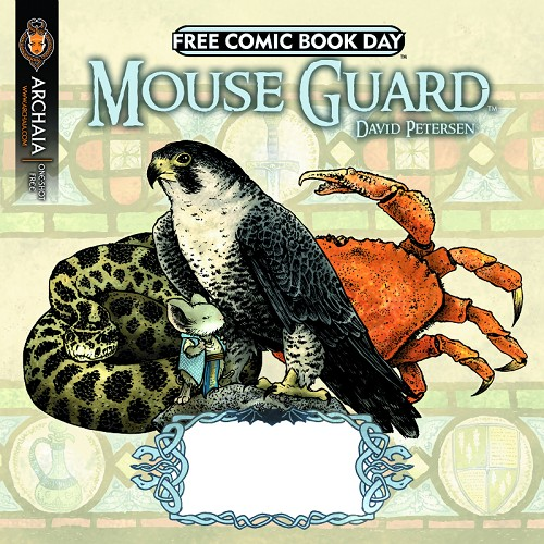 Couverture de Free Comic Book Day 2011 - Mouse Guard - The dark crystal