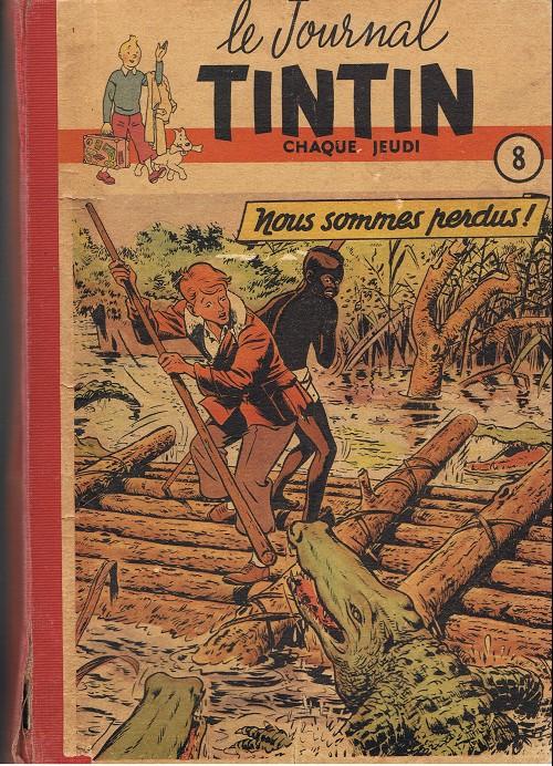 Couverture de (Recueil) Tintin (Album du journal - Édition française) -8- Tintin album du journal (n° 120 à 136)