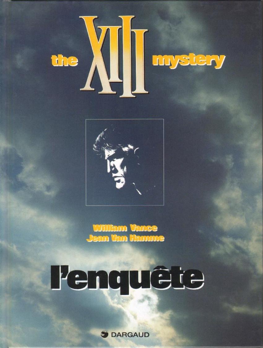 Couverture de XIII -13- The XIII mystery - L'enquête