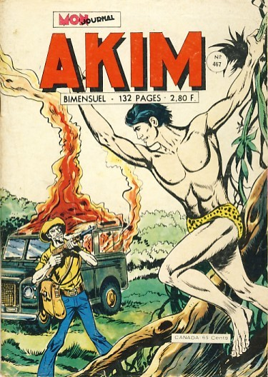 Couverture de Akim (1re série) -467- La vallée des orchidées noires