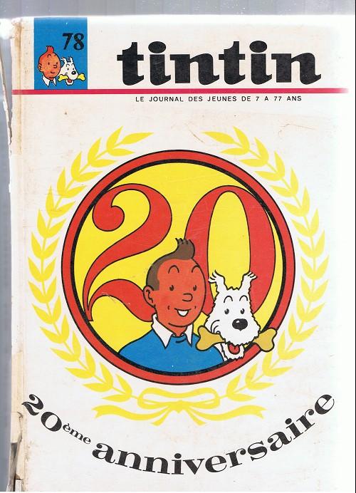 Couverture de (Recueil) Tintin (Album du journal - Édition française) -78- Tintin album du journal (n° 1042 à 1054)