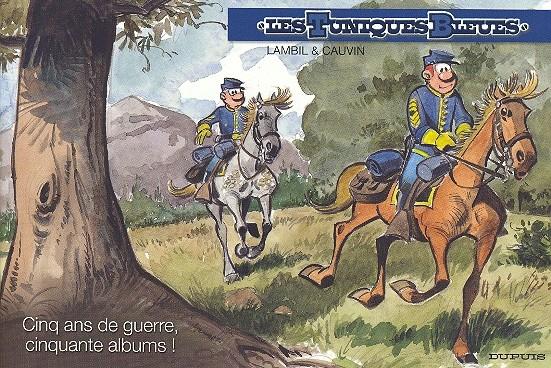 Couverture de Les tuniques Bleues -50HC- Cinq ans de guerre, 50 albums !