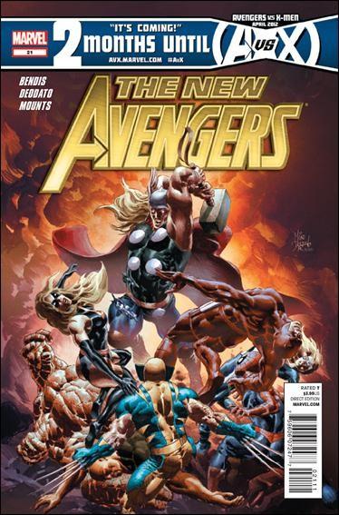 Couverture de New Avengers (The) (2010) -21- New Avengers versus Dark Avengers part 2