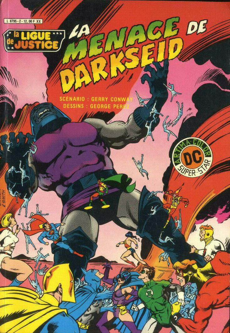 Couverture de La ligue de justice (1re série - Arédit - Artima Color DC Super Star puis Artima Color DC) -2- La menace de Darkseid