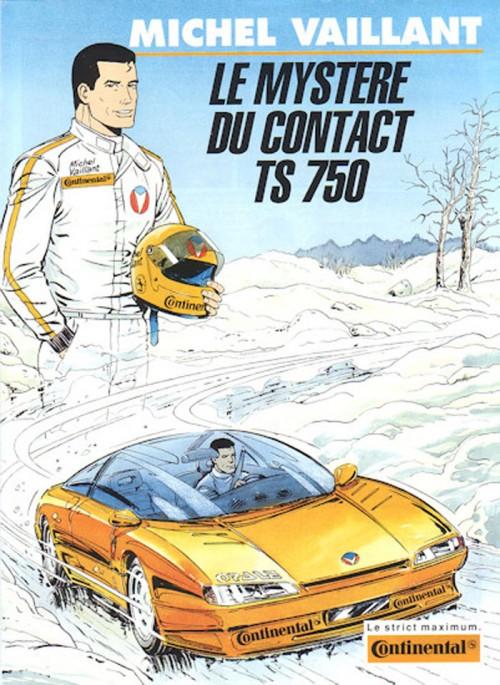Couverture de Michel Vaillant -10Pub- Le mystère du contact TS 750