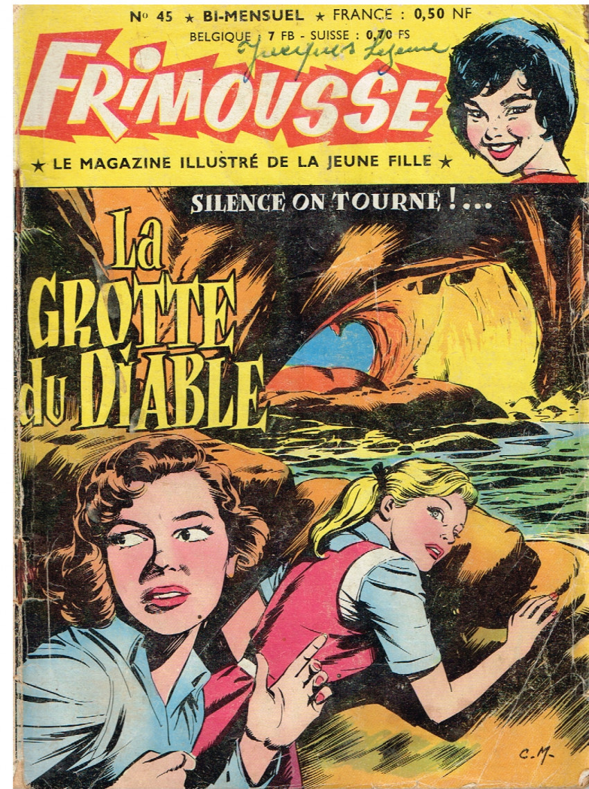 Couverture de Frimousse et Frimousse-Capucine -45- La grotte du Diable