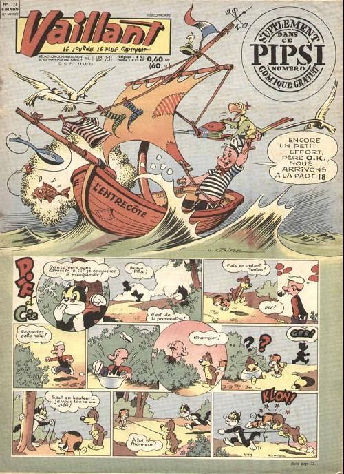 Couverture de Vaillant (le journal le plus captivant) -773- Vaillant