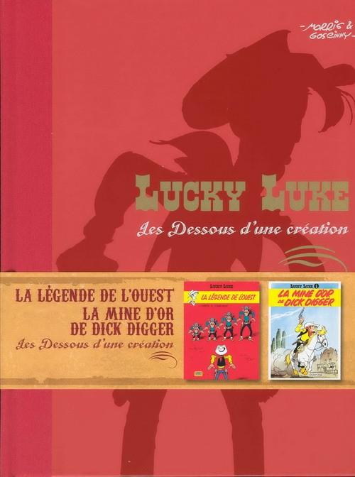 Couverture de Lucky Luke - Les Dessous d'une création (Atlas) -32- La légende de l'ouest - la mine d'or de dick digger