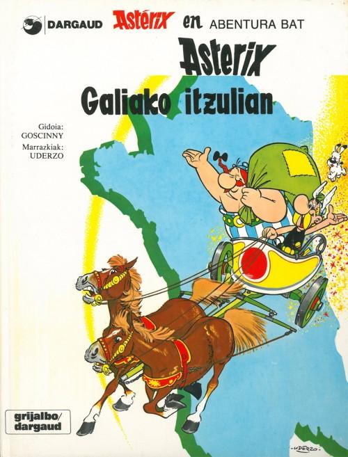 Couverture de Astérix (en langues étrangères) -5Basq- Asterix Galiako itzulian