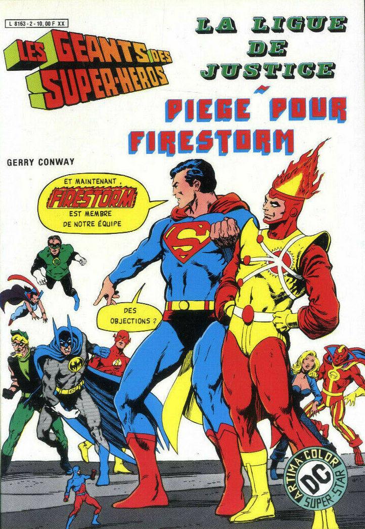 Couverture de Les géants des super-héros -2- La Ligue de Justice - Piège pour Firestorm