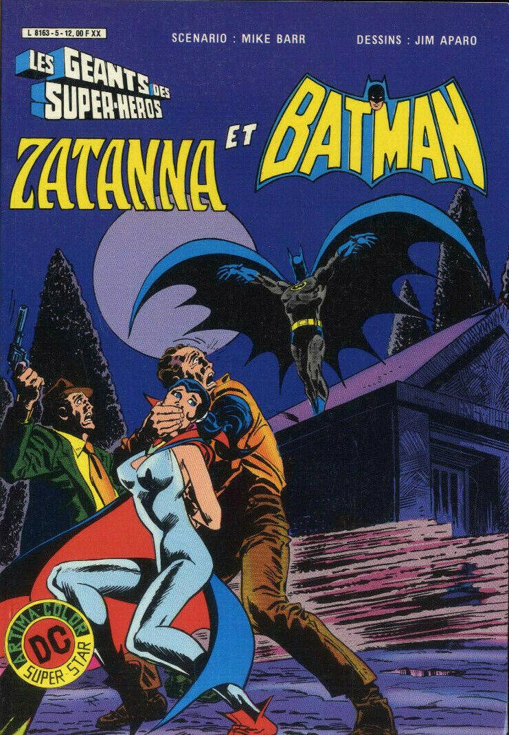 Couverture de Les géants des super-héros -5- Zatanna et Batman