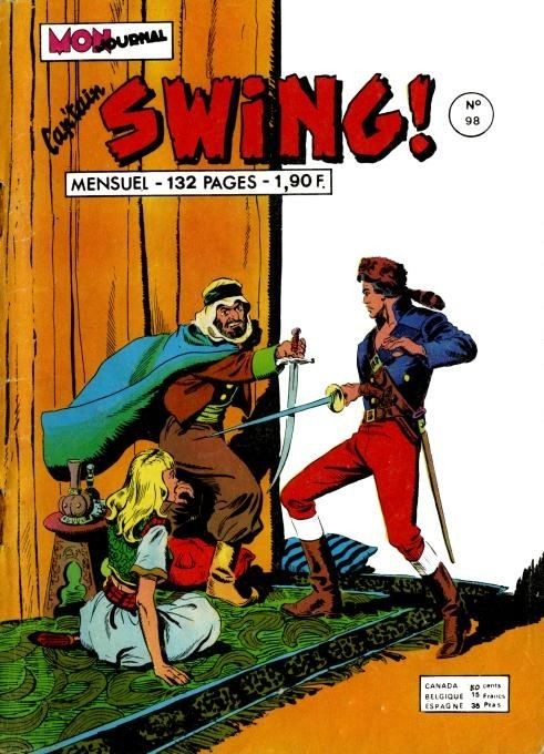 Couverture de Capt'ain Swing! (1re série) -98- L'esclave aux cheveux d'or