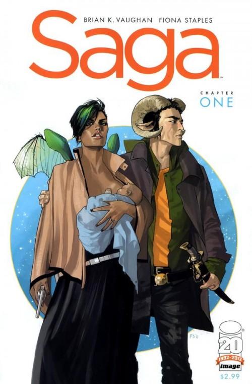 Couverture de Saga (Image comics - 2012) -1- Chapter one