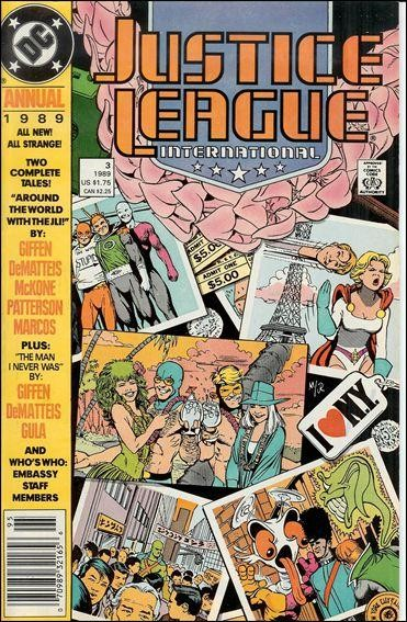 Couverture de Justice League International (1987) -AN03- Around the world with the JL