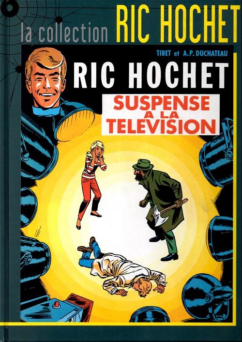 Couverture de Ric Hochet - La collection (Hachette) -7- Suspense à la télévision