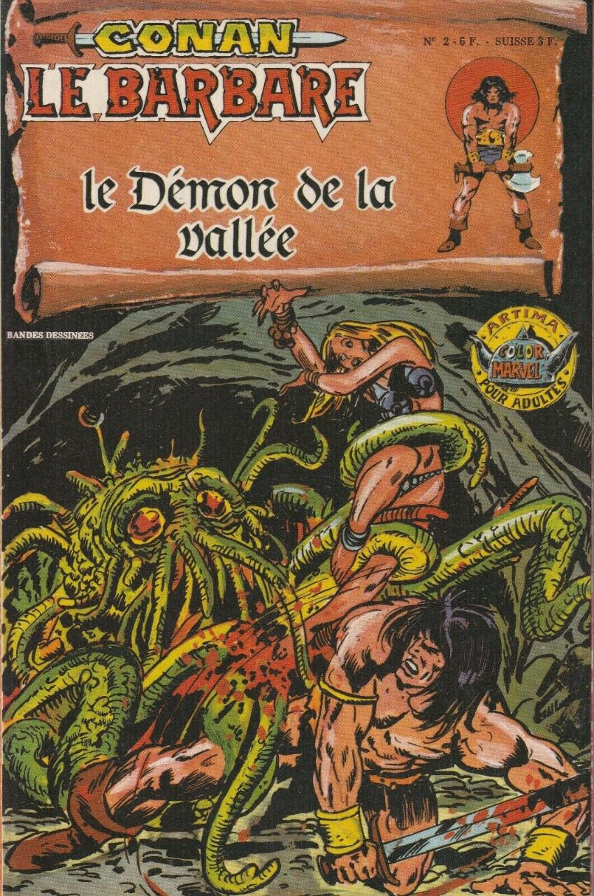 Couverture de Conan le barbare (1re série - Aredit - Artima Marvel Color) -2- Le démon de la vallée