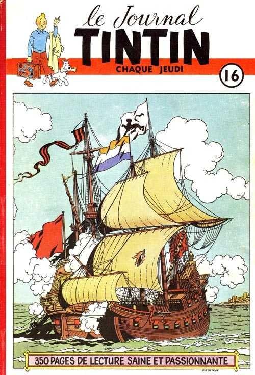 Couverture de (Recueil) Tintin (Album du journal - Édition belge) -16- Tome 16
