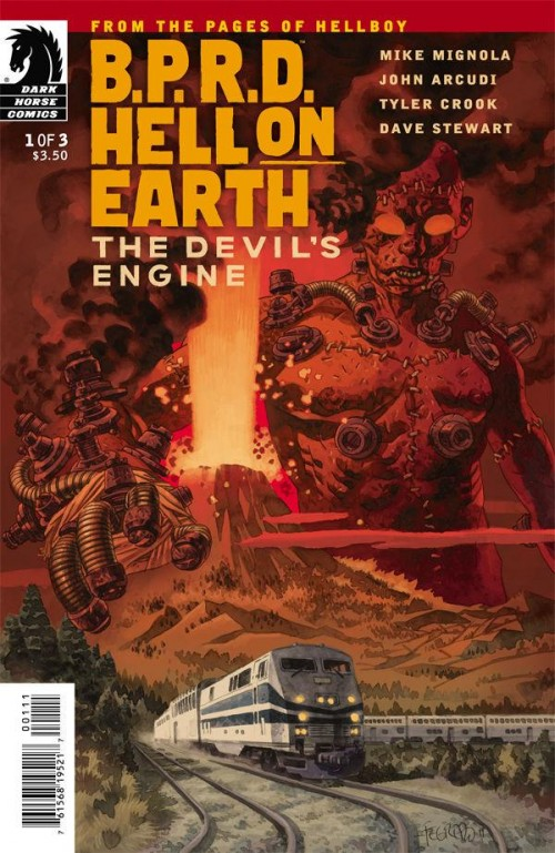 Couverture de B.P.R.D. (2003) -92- Hell on Earth - The Devil's Engine 1