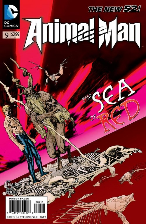 Couverture de Animal Man (2011) -9- Extinction is Forever, Part One: The Bone Orchard