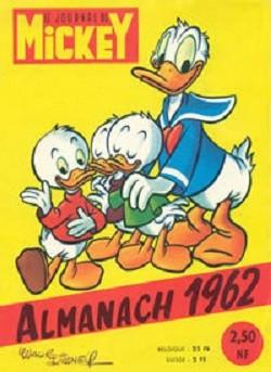 Couverture de Almanach du Journal de Mickey -6- Année 1962
