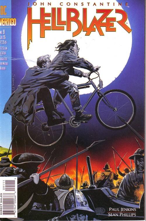 Couverture de Hellblazer (DC comics - 1988) -91- Riding the great lanes