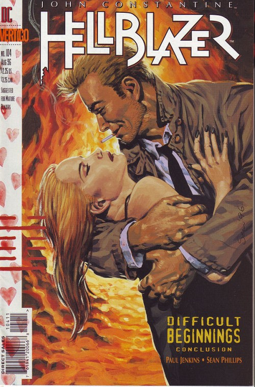 Couverture de Hellblazer (DC comics - 1988) -104- Difficult beginnings (3)