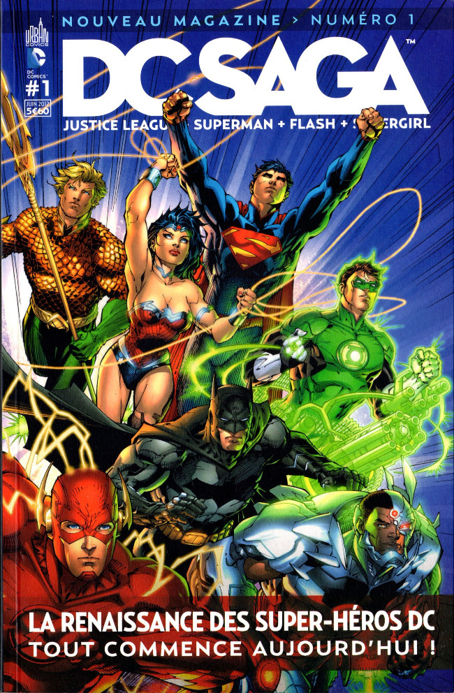 Couverture de DC Saga -1- La renaissance des super-héros DC