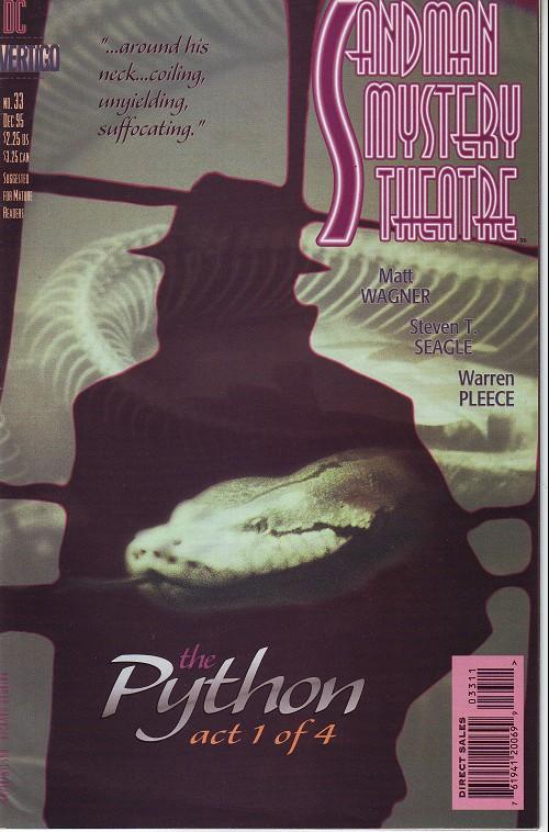 Couverture de Sandman Mystery Theatre (1993) -33- The Python (1)