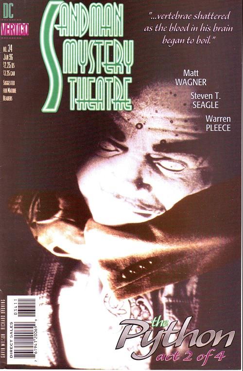 Couverture de Sandman Mystery Theatre (1993) -34- The Python (2)