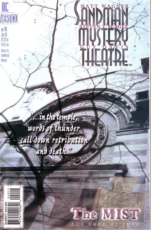 Couverture de Sandman Mystery Theatre (1993) -40- The Mist (4)