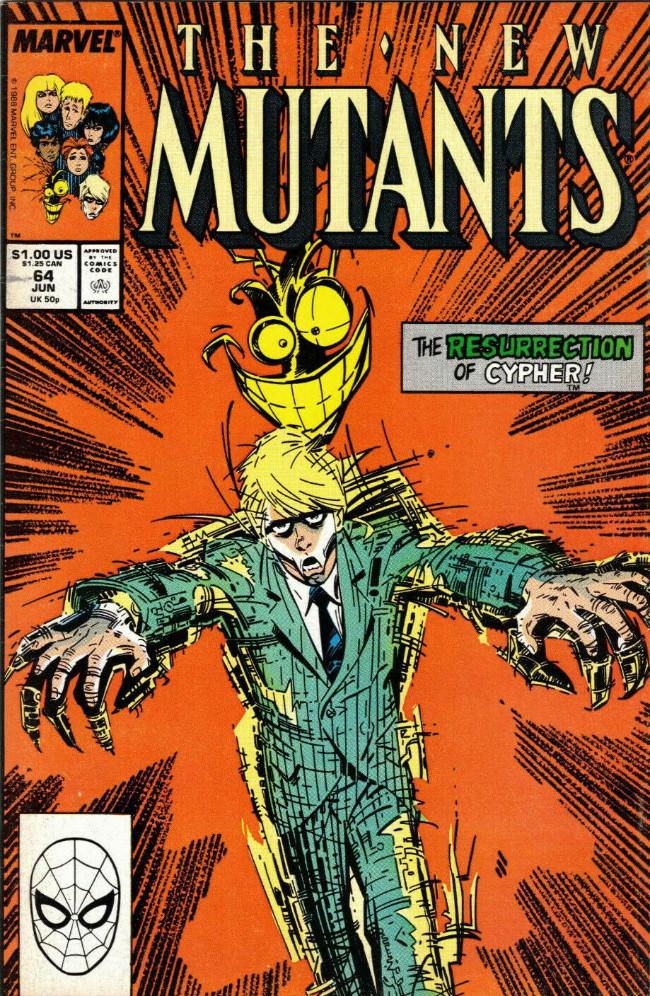Couverture de New Mutants (The) (1983) -64- The Resurrection of Cypher !