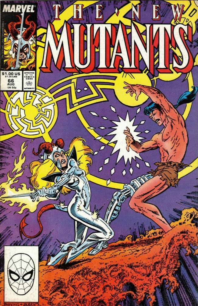 Couverture de New Mutants (The) (1983) -66- Sorcerer's Duel !