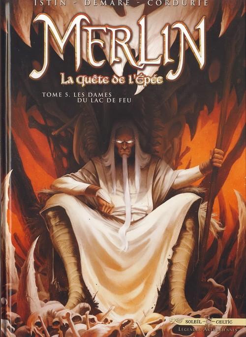 Couverture de Merlin - La quête de l'épée -5- Les Dames du lac de feu