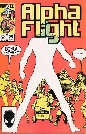 Couverture de Alpha Flight (Marvel comics - 1983) -25- And graves give up their dead..