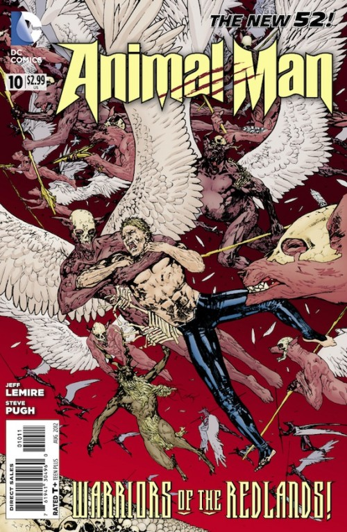 Couverture de Animal Man (2011) -10- Extinction is Forever, Part Two: Warriors of the redlands !