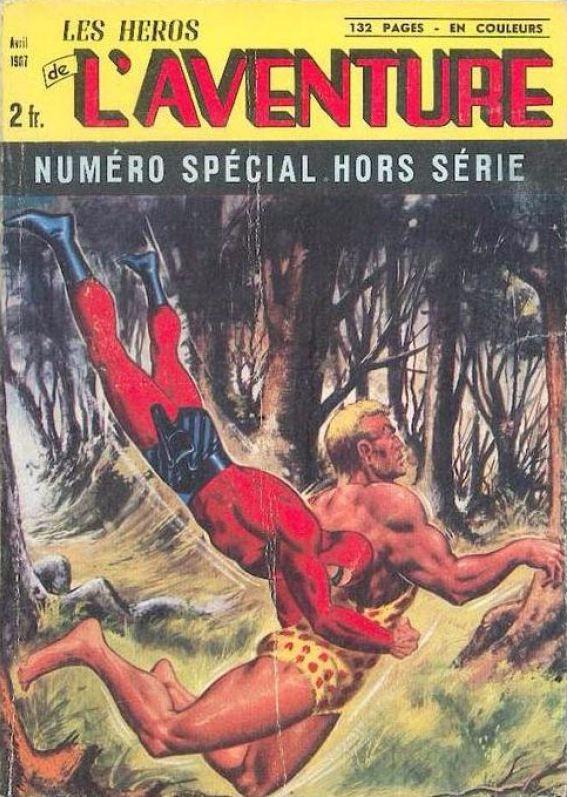 Couverture de Les héros de l'aventure (Classiques de l'aventure, Puis) -HS01- Spécial 4/67 : Le monstre de la vallée verte