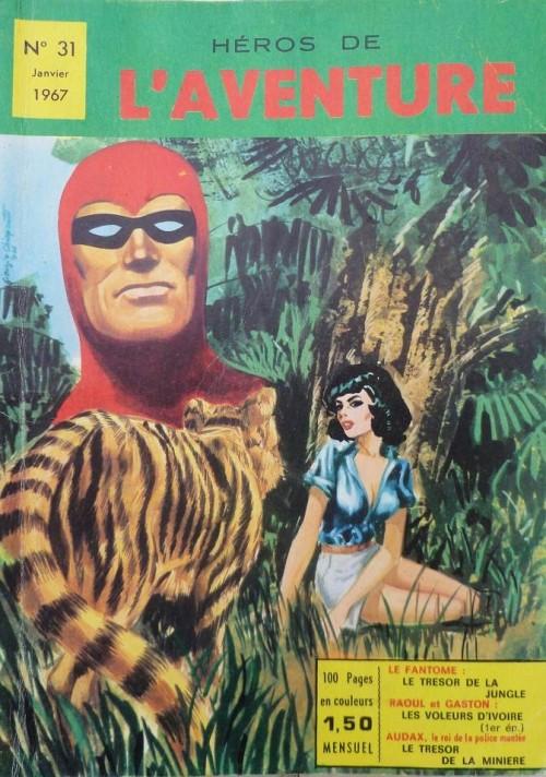 Couverture de Les héros de l'aventure (Classiques de l'aventure, Puis) -31- Le Fantôme : Le trésor de la jungle