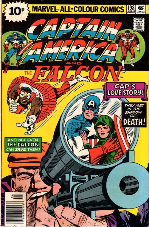 Couverture de Captain America (Marvel comics - 1968) -198'- Captain America's Love Story