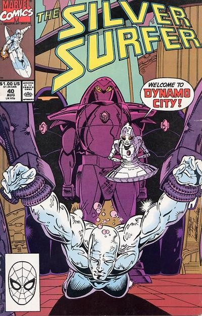 Couverture de Silver Surfer Vol.3 (Marvel comics - 1987) -40- Welcome to Dynamo City