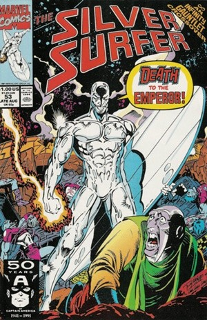 Couverture de Silver Surfer Vol.3 (Marvel comics - 1987) -53- The fool on the throne.