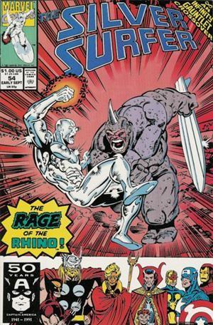 Couverture de Silver Surfer Vol.3 (Marvel comics - 1987) -54- Cages
