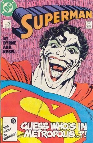 Couverture de Superman Vol.2 (DC comics - 1987) -9- To laugh and die in metropolis