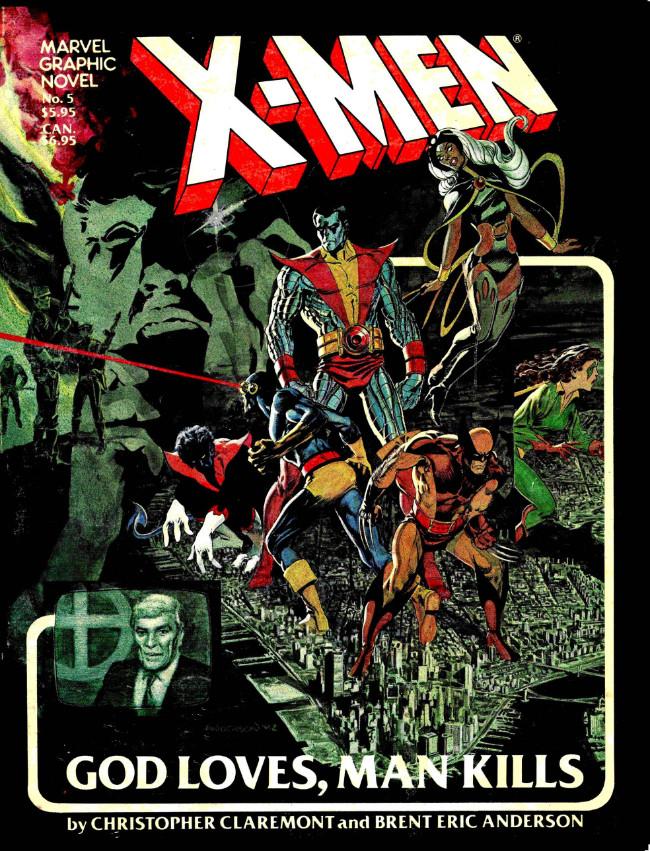 Couverture de Marvel Graphic Novel (Marvel comics - 1982) -5- X-Men: God Loves, Man Kills