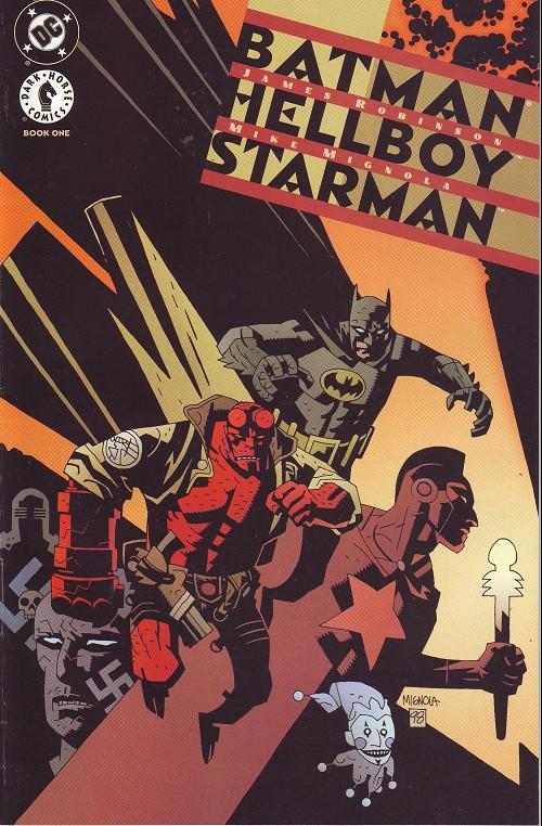 Couverture de Batman/Hellboy/Starman (1999) -1- Book one: Gotham grey evil