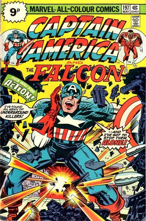 Couverture de Captain America (Marvel comics - 1968) -197'- The rocks are burning!