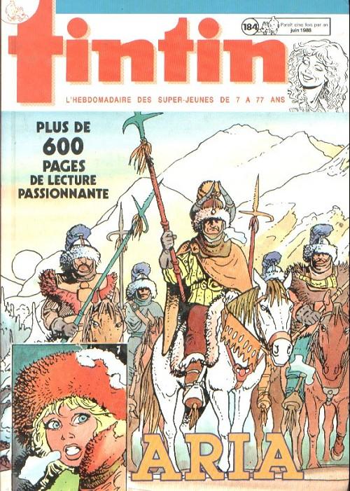 Couverture de (Recueil) Tintin (Album du journal - Édition belge) -184- Tome 184