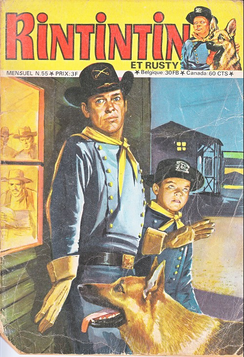 Couverture de Rin Tin Tin & Rusty (2e série) -55- Le fils du major Swanson