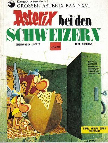 Couverture de Astérix (en allemand) -16- Astérix bei den schweizern