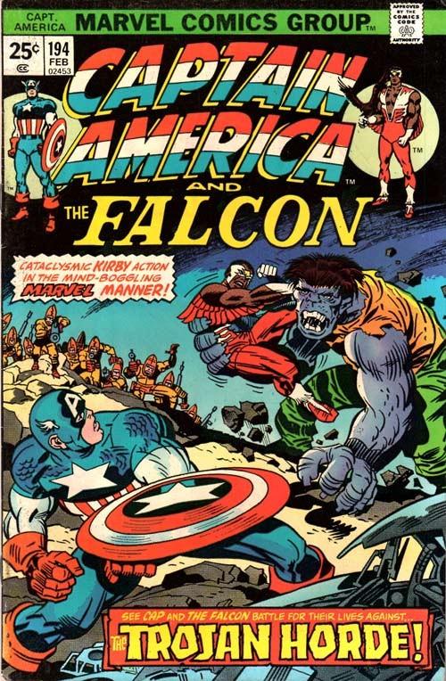 Couverture de Captain America (Marvel comics - 1968) -194- The Trojan Horde!